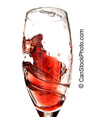 Red Wine Spiral - Red wine in motion in glass