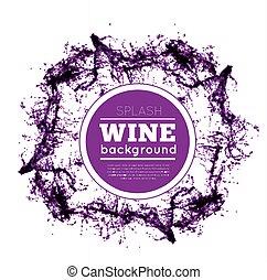 Red wine splash. Vector illsustration on white background
