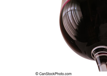 red wine - Beaker of red wine isolated on white close-up....