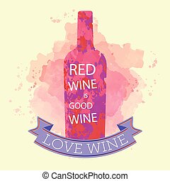 Red wine tasting and love card, bot