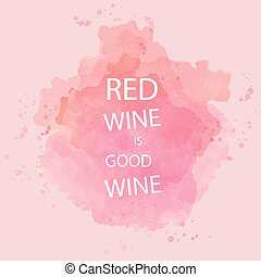 Red wine tasting card with text, ov