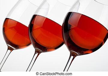 Red wine - Three wineglass whit red wine