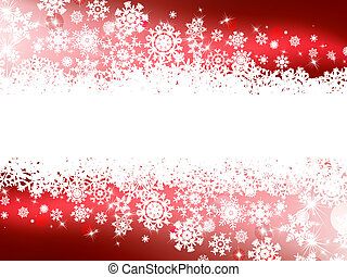 Red winter background & snowflakes. EPS 8