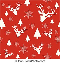 red winter christmas seamless pattern