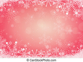 Red Winter Holiday Christmas Background With Snowflake Border