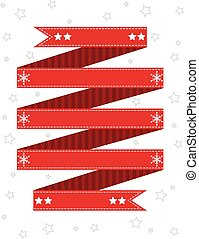 Red winter themed ribbon design