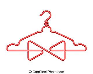 Red wire coat hanger bow tie 3D