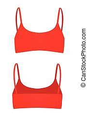 Red women top. back and front view