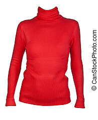 Red Women's blouse with a collar