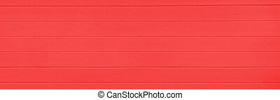 Red wooden texture background. Copy space, text place. Wood finish material shop. Natural banner. Painted plank timber. Wall lining. Rustic mockup. Indoor interior. Horizontal lines. Spring color