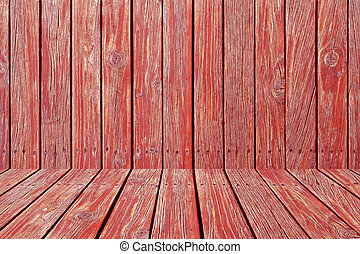 red wooden wall texture with perspective design as ...