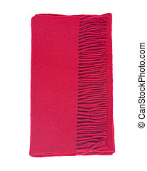 Red wool warm scarf