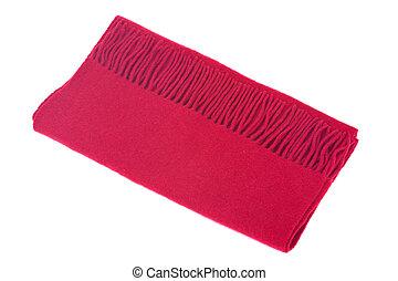 Red wool warm scarf