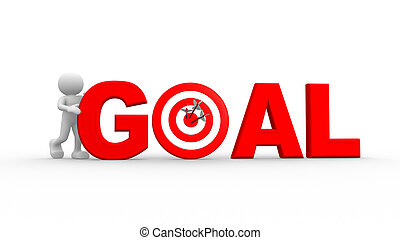 """Red word """"goal"""""""