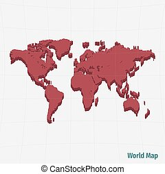 Map egypt red sea 3d illustration map of egypt as a gray piece red world map gumiabroncs Gallery