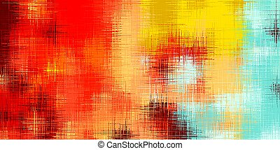 red yellow and blue painting