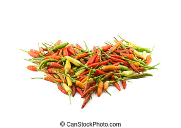 Red, yellow, and green pepper