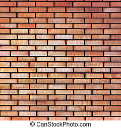 Red yellow beige tan fine brick wall texture background,...