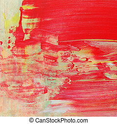red yellow brush strokes oil paint