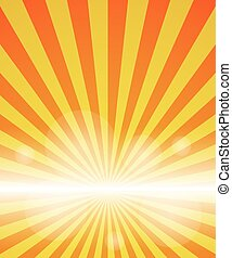 red-yellow color burst background. Vector illustration