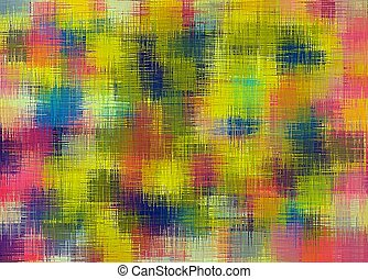 red yellow pink and blue painting abstract background