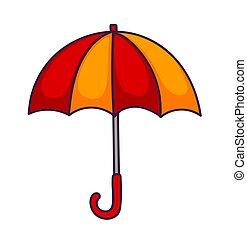 red-yellow, umbrella.