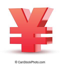 red yen symbol