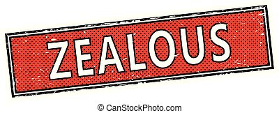 red zealous square grunge sign