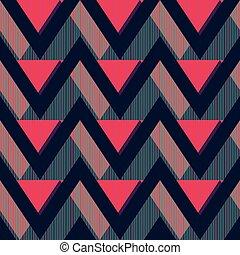Red zigzag seamless pattern