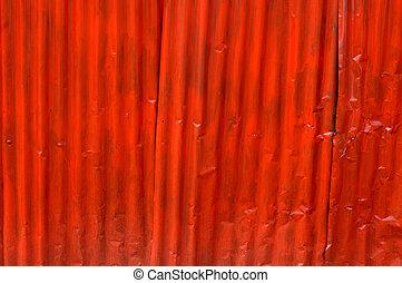 zinc wall - red zinc wall background