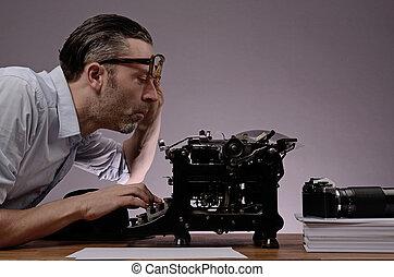 redactor, trabajando