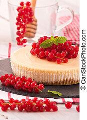 Redcurrant cheesecake.