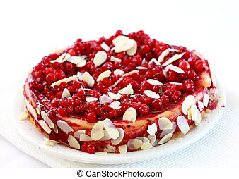 Redcurrant pie with almond - Delicious redcurrant pie with...