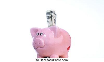 reddend geld, in, recessie