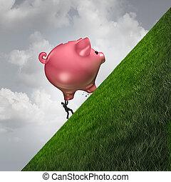 reddend geld, uitdaging