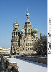 redder, op, gemorste, bloed, heilige, petersburg, rusland