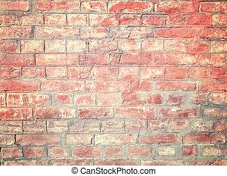 Reddish Brick Wall