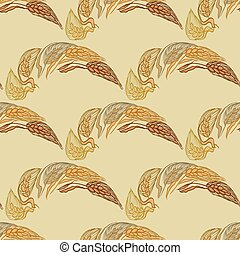 Reddish-brown color seamless patter - Yellow seamless...