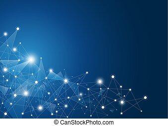 rede, abstratos, global, ilustração, conexão, vetorial, fundo
