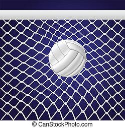 rede, bola, voleibol