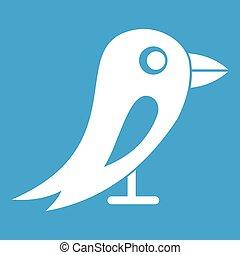rede, branca, social, pássaro, ícone