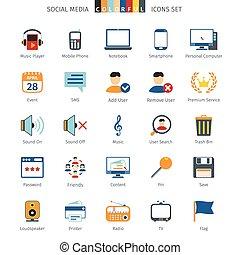 rede, coloridos, ícones