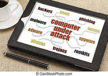 rede computador, segurança, conceito