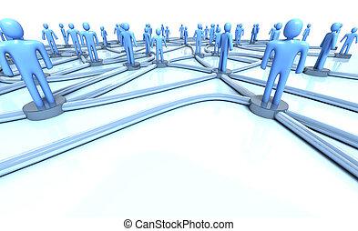 rede, de, pessoas