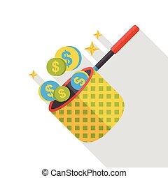 rede dinheiro, apartamento, ícone