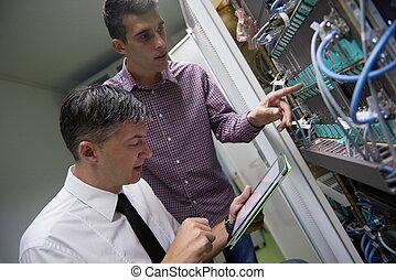 rede, engenheiros, em, quarto usuário