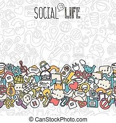 rede, fundo, social
