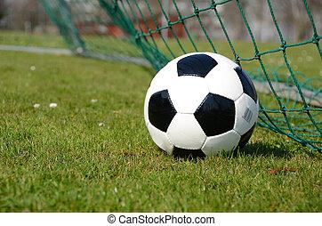 rede futebol, bola, meta