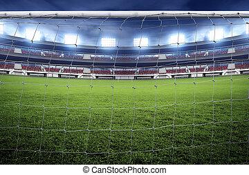 rede, meta futebol