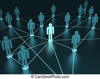 rede, pessoas